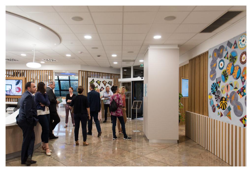 Exposition JEUX DE FORMES Crédit Agricole Provence Côte d'Azur © Élizabeth FOYÉ - Photo Nicolas Foyé -2019